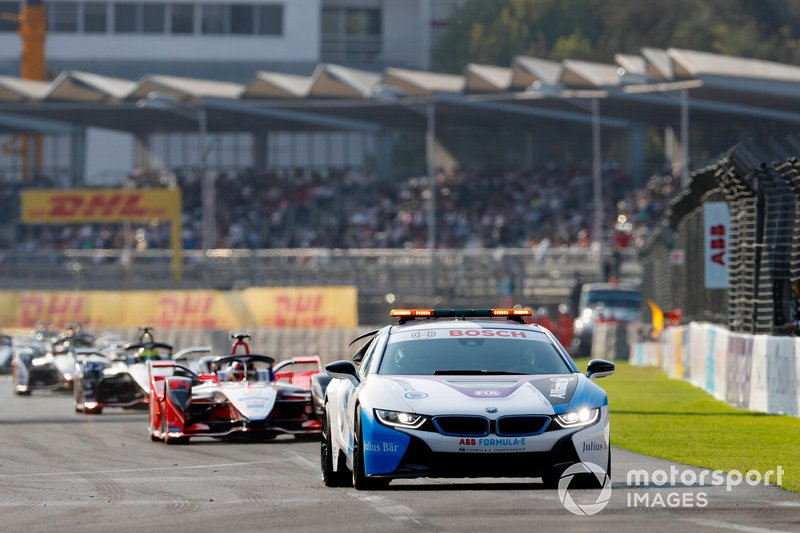 Pascal Wehrlein, Mahindra Racing, M5 Electro sigue al safety car