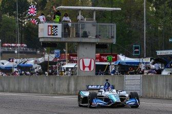 Takuma Sato, Rahal Letterman Lanigan Racing Honda, Checkered Flag