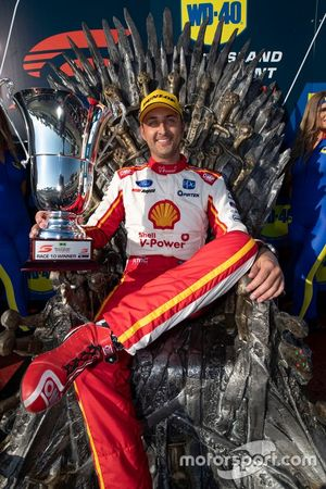 Podium: race winner Fabian Coulthard, DJR Team Penske