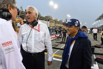 Lawrence Stroll with a guest on the grid
