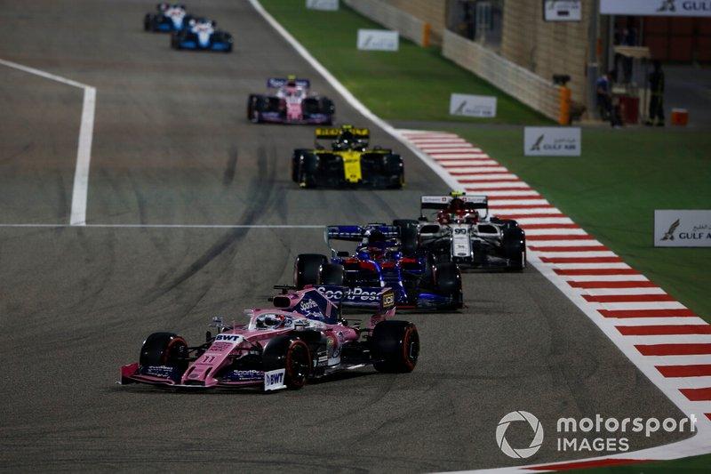 Sergio Perez, Racing Point RP19, Daniil Kvyat, Toro Rosso STR14, Antonio Giovinazzi, Alfa Romeo Racing C38, Nico Hulkenberg, Renault R.S. 19