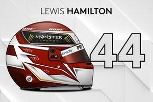 El casco 2019 de Lewis Hamilton