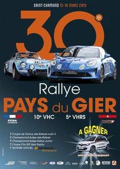Rallye Pays du Gier, theaterplakat 2019