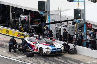 #24 BMW Team RLL BMW M8 GTE, GTLM: Jesse Krohn, John Edwards, Chaz Mostert, Alex Zanardi, Pit Stop