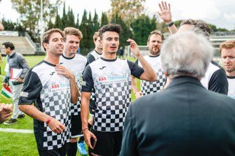 Pascal Wehrlein (DEU), Mahindra Racing, Antonio Felix da Costa, BMW I Andretti Motorsports at the Formula E charity football match