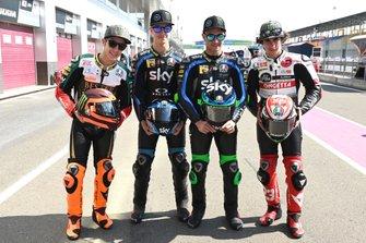 Andrea Migno, Bester Capital Dubai, Celestino Vietti, Sky Racing Team VR46, Dennis Foggia, Sky Racing Team VR46, Niccolo Antonelli, SIC58 Squadra Corse