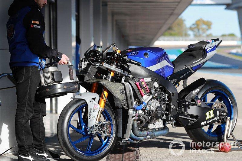 Bike of Sandro Cortese, GRT Yamaha WorldSBK Team