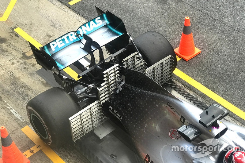 Lewis Hamilton, Mercedes-AMG F1 W10 EQ Power+, with sensors