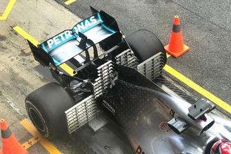 Lewis Hamilton, Mercedes-AMG F1 W10 EQ Power+, with sensors