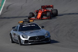 Safety Car leads Charles Leclerc, Ferrari SF90