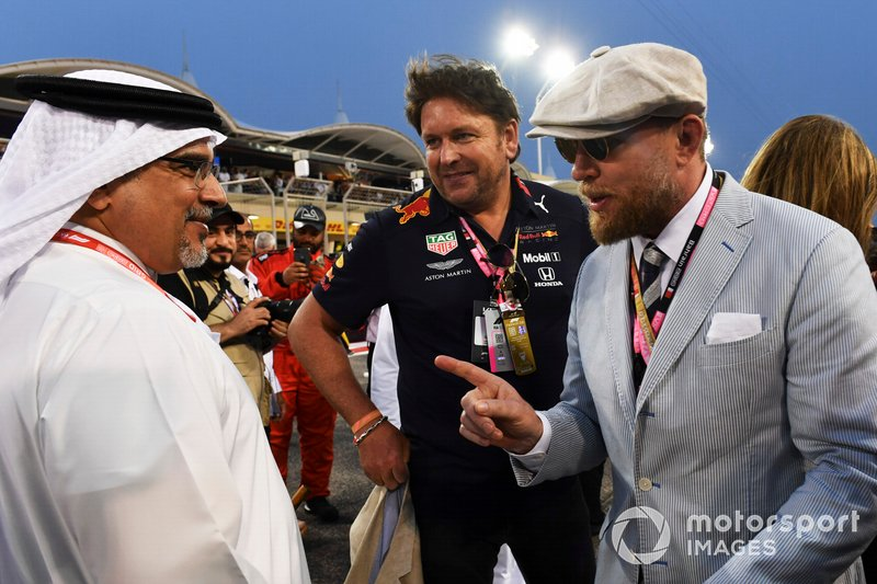 TV Chef James Martin and Director Guy Ritchie on the grid