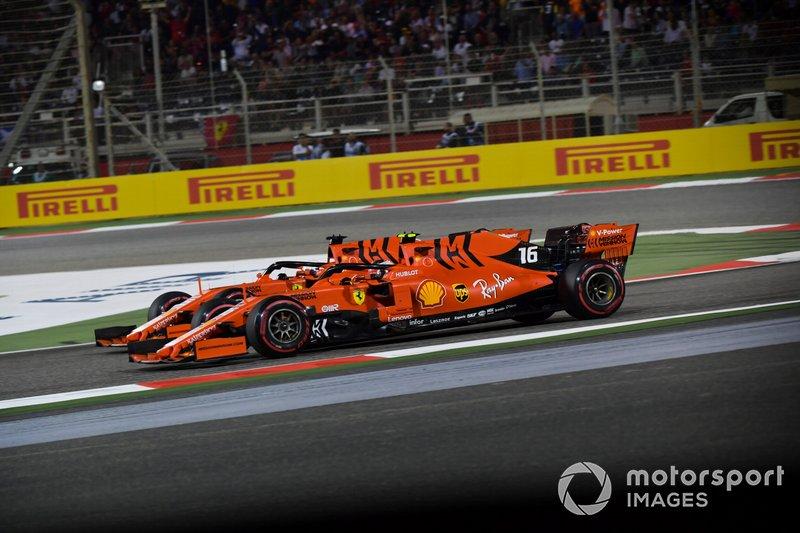 Sebastian Vettel, Ferrari SF90, et Charles Leclerc, Ferrari SF90