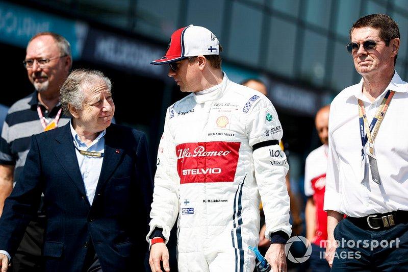 Jean Todt, Presidente FIA, e Kimi Raikkonen, Alfa Romeo Racing