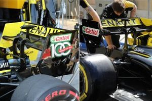 Renault F1 Team rear wing comparison
