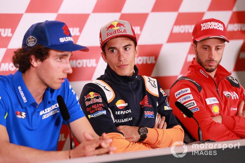 Alex Rins, Team Suzuki MotoGP, Marc Marquez, Repsol Honda Team, Andrea Dovizioso, Ducati Team