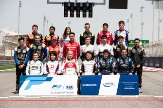 Drivers pose for the class