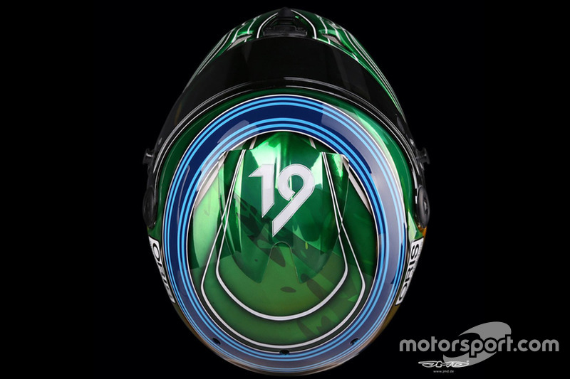 Casco de Felipe Massa para el GP de Abu Dhabi