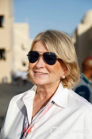Martha Stewart visits the Formula 1 Paddock