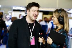 Marcus Mumford, Mumford & Sons lead singer, with Nicki Sheilds, F1 Presenter