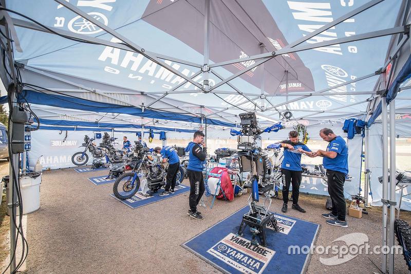 Yamaha Official Rally Team area