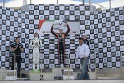 Podium: race winner Charles Weerts, Dragon Motopark F4, second place David Schumacher, Rasgaira Motorsports, third place Tom Beckhäuser, CRAM Motorsport