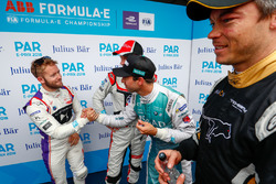 Antonio Felix da Costa, Andretti Formula E Team, joins Sam Bird, DS Virgin Racing, Maro Engel, Venturi Formula E Team, Andre Lotterer, Techeetah, in the media pen
