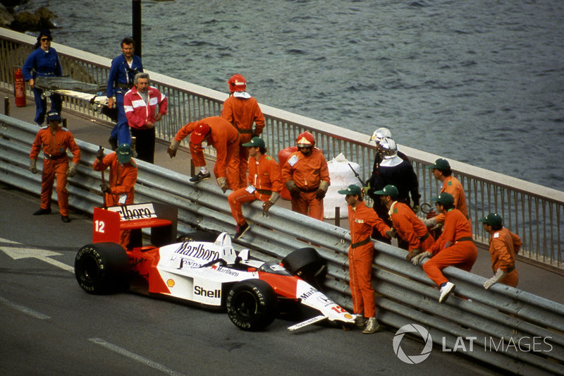 GP de Mónaco, 1988 - El mayor error