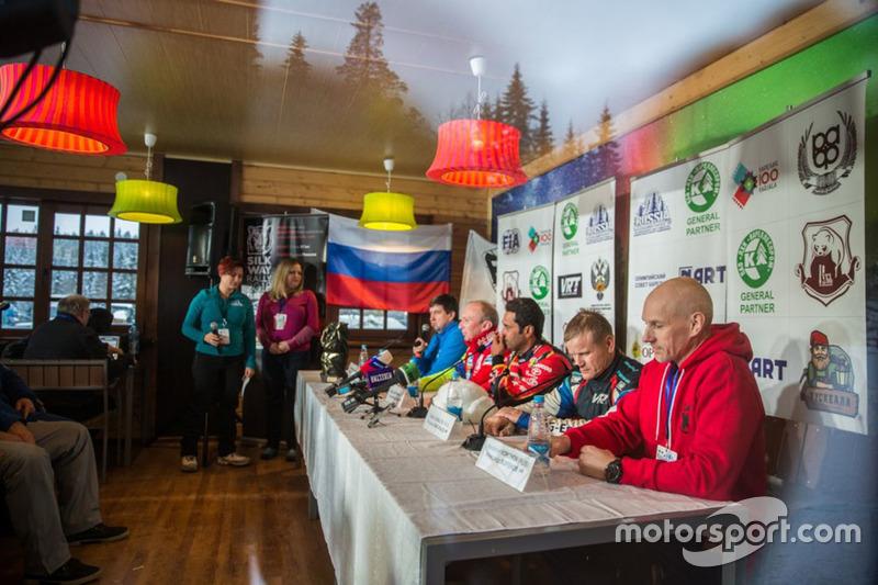 Press conference at Baja Russia