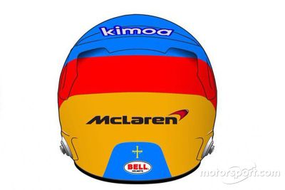 Présentation du casque de Fernando Alonso