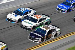 Aric Almirola, Stewart-Haas Racing Ford Fusion, Gray Gaulding, BK Racing, Toyota Camry, Jeffrey Earn