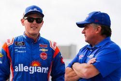 Spencer Gallagher, GMS Racing, Allegiant Chevrolet Camaro and Joe Nemechek