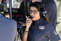 L'ingénieur du Schmidt Peterson Motorsports Honda, Leena Gade