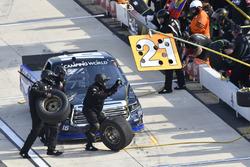 Brett Moffitt, Hattori Racing Enterprises, Toyota Tundra AISIN Group, makes a pit stop