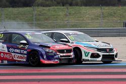 Francisco Abreu, Sports & You Peugeot 308 TCR, Cedric Piro, Autodis Racing by Piro Sports Honda Civic Type R TCR