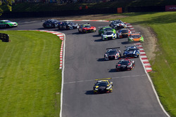 Partenza, #17 Team WRT Audi R8 LMS: Stuart Leonard, Frederic Vervisch, al comando