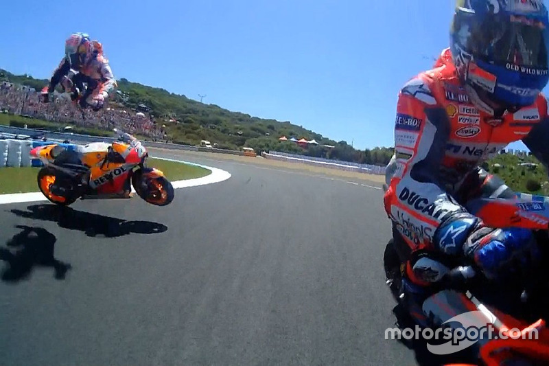 Dani Pedrosa, Repsol Honda Team, crash