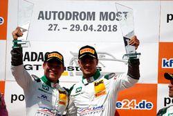 Junior Podium: #29 Montaplast by Land-Motorsport Audi R8 LMS: Alessio Picariello, Christopher Mies