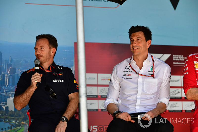 Christian Horner, Red Bull Racing Team Principal and Toto Wolff, Mercedes AMG F1 Director of Motorsp