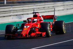 Sebastian Vettel, Ferrari SF71H, carries sensor equipment