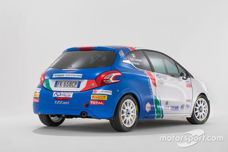 La Peugeot 208 R2 di Damiano De Tommaso e Michele Ferrara
