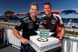 Craig Lowndes, Triple Eight Race Engineering Holden, Garth Tander, Garry Rogers Motorsport celebrate