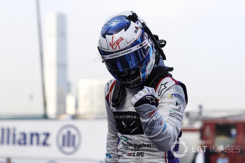 Sam Bird, DS Virgin Racing, celebra después de ganar la carrera
