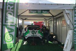 Lo stand di Ivan Ballinari e Andrea Sacha Togni al Monza Rally Show