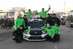 Il team Metiorsport.it festeggia la vittoria in R5 al Monza Rally Show
