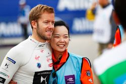 Sam Bird, DS Virgin Racing, poses for a picture with a Marshal