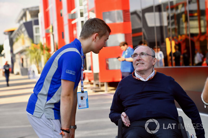 Billy Monger e Frank Williams, proprietario del team Williams