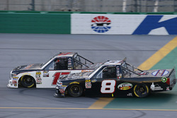 Chris Eggleston, DGR-Crosley, Toyota Tundra BlazeMaster Fire Protection Systems / CROSLEY BRANDS and John Hunter Nemechek, NEMCO Motorsports, Chevrolet Silverado Fleetwing Corporation