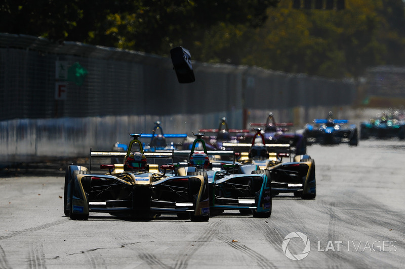 Jean-Eric Vergne, Techeetah, Nelson Piquet Jr., Jaguar Racing, Andre Lotterer, Techeetah
