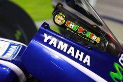 Un logo sur la moto de Valentino Rossi, Yamaha Factory Racing