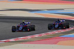 Pierre Gasly, Scuderia Toro Rosso STR13 y Brendon Hartley, Scuderia Toro Rosso STR13